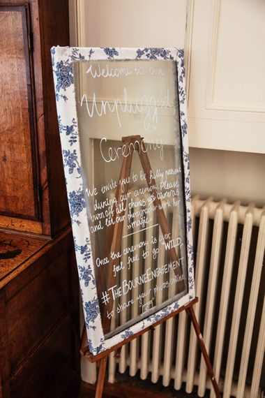 DIY Glass Welcome Sign