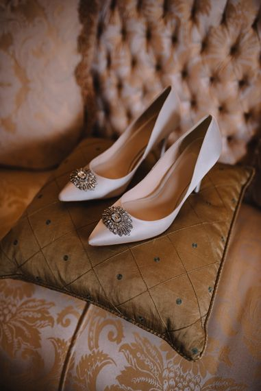 Jewel Encrusted Bridal Shoes