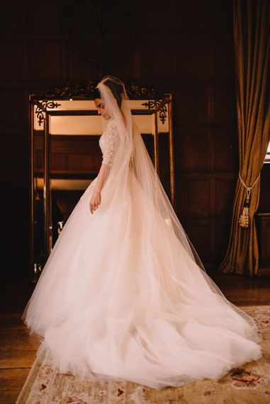 Elegant Bride in Princess Gown