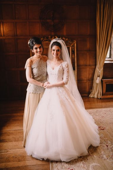 Elegant Bride & Bridesmaid