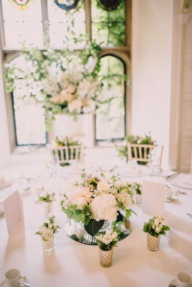 Elegant White on White Wedding Reception