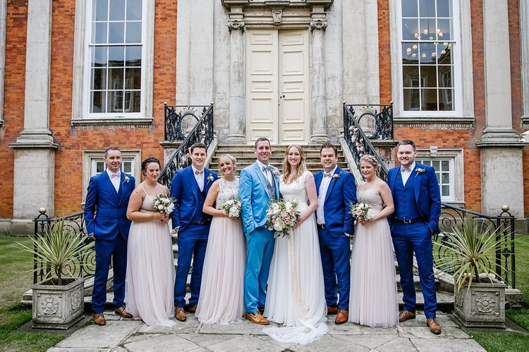 Pink & Blue Wedding Party