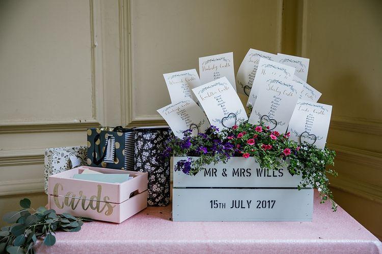 Wooden Palette Planter For Wedding Table Plan