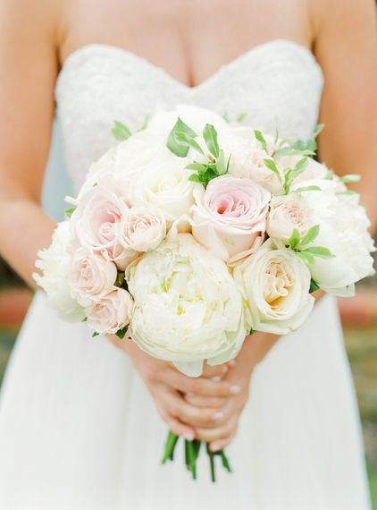 Pink & White Rose Wedding Bouquet