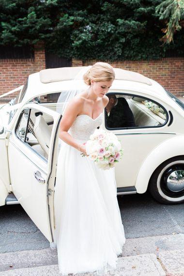Bride in Essense Wedding Dress