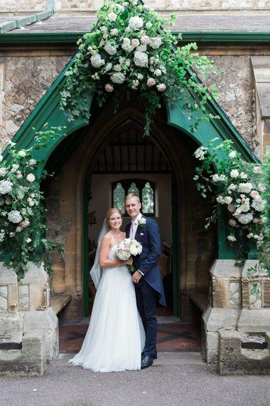 Bride & Groom Church Portrait