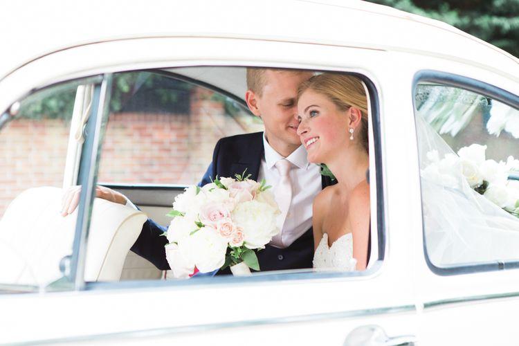 Bride & Groom Wedding Car Portrait