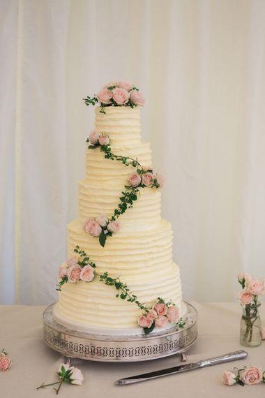 Homemade Elegant Buttercream Wedding Cake