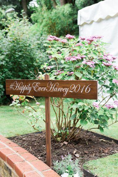 Garden Flower Bed & Wedding Sign