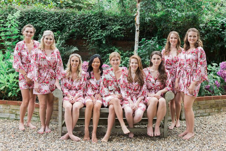 Bridal Party in Matching Robes