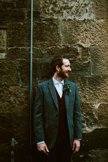 Groom in Harris Tweed Jacket