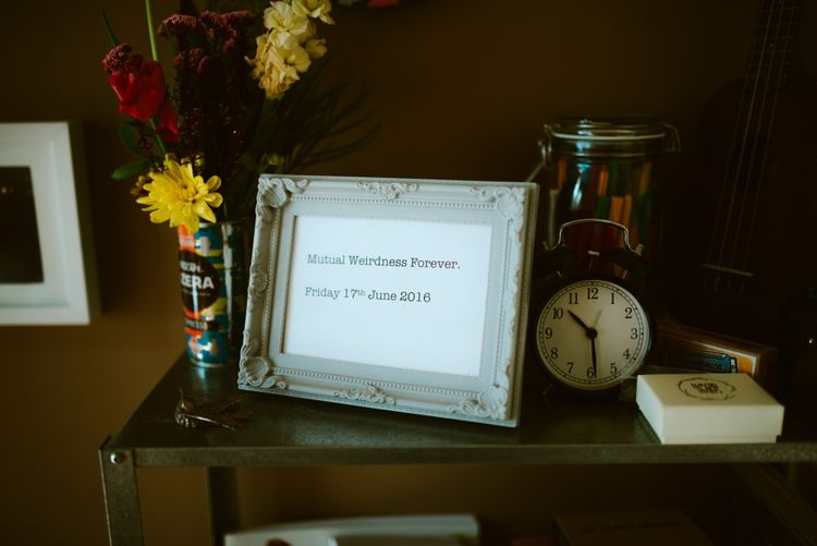 Mutual Weirdness Forever Wedding Sign