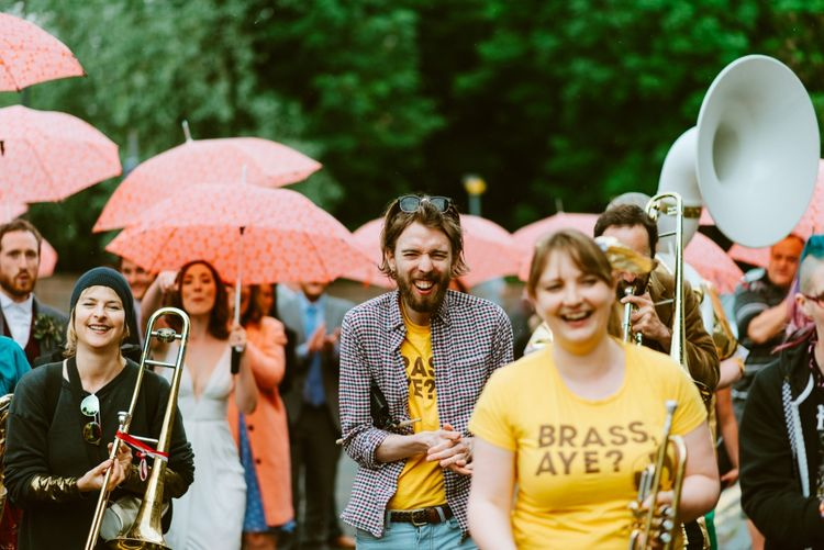 Brass Band Led Wedding Procession
