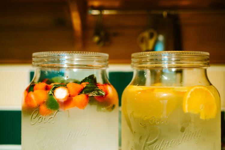 Kilner Jar Wedding Drinks