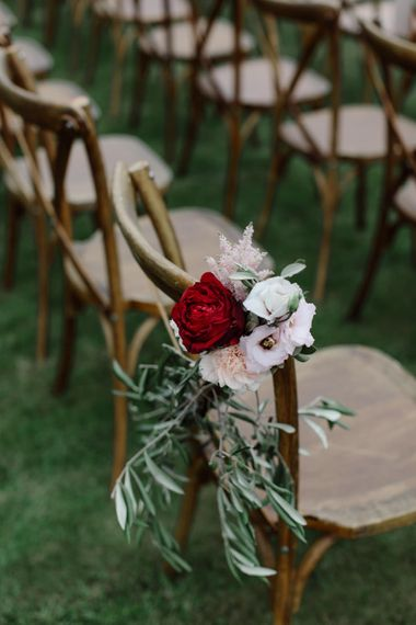 Outdoor Wedding In Scotland With Burgundy, Pink & Navy Colour Scheme Images From Caro Weiss Photography & Bespoke Stationery From de Winton Paper Co