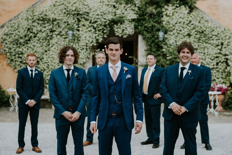 Groom & Groomsmen in Navy
