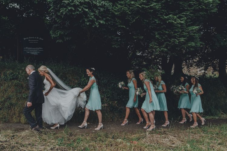 Bride & Wedding Party In Mint Green ASOS Dresses