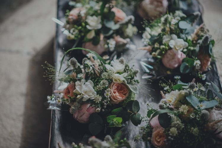 Rustic Wedding Flowers For A Cornish Wedding