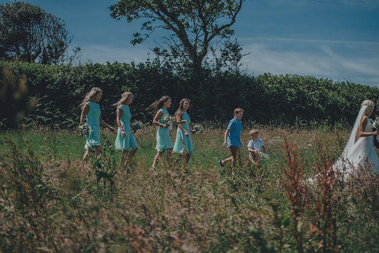 Bridesmaids In Mint Green ASOS Dresses