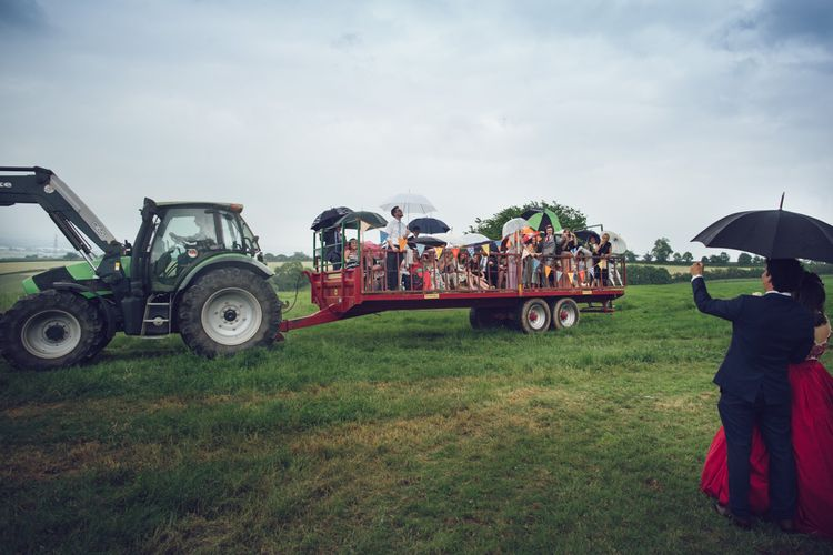 Tractor At Wedding