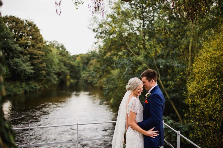 Eliza Jane Howell Beaded Dress For An Autumn Wedding At The West Mill Derby