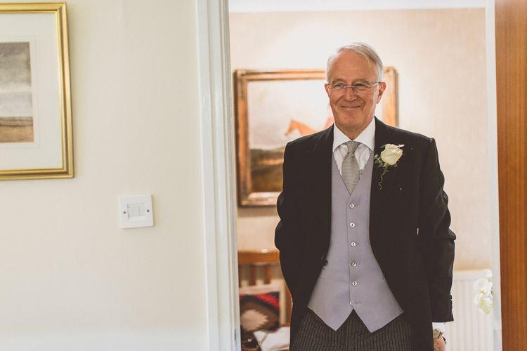 Father of The Bride in Suit Supply | Classic Wedding at Knowsley Hall Country House in Merseyside | Photography & Film by WE ARE // THE CLARKES