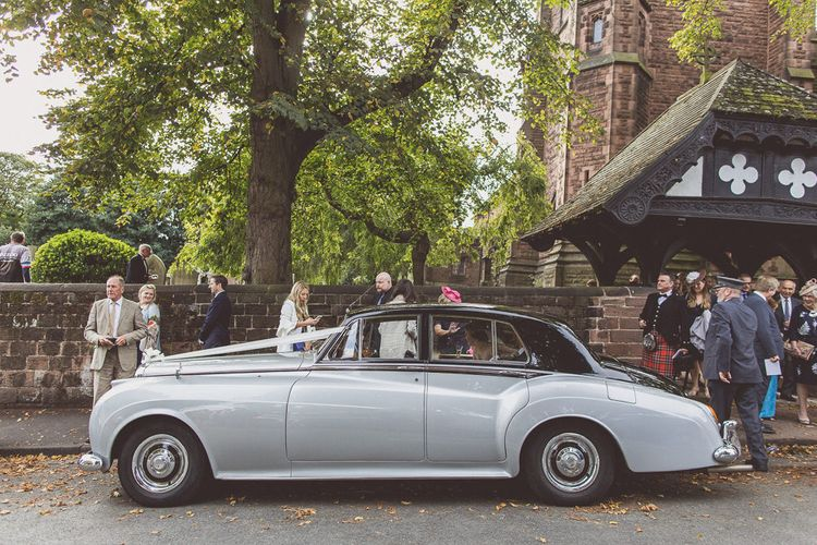 1958 Bentley S1 Wedding Car | St. Peters Church in Woolton Village | Classic Wedding at Knowsley Hall Country House in Merseyside | Photography & Film by WE ARE // THE CLARKES