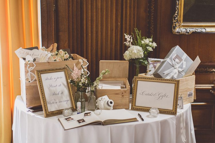 Card and Gift Table | Classic Wedding at Knowsley Hall Country House in Merseyside | Photography & Film by WE ARE // THE CLARKES