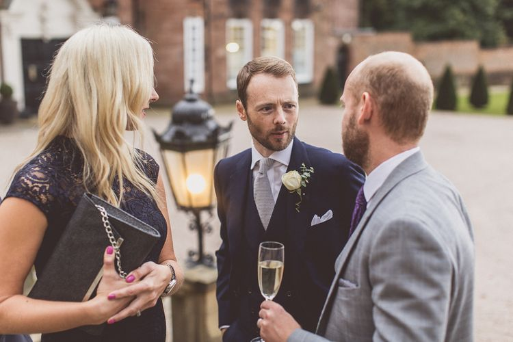 Wedding Guests | Groom in Navy Whitcomb and Shaftsbury Suit | Classic Wedding at Knowsley Hall Country House in Merseyside | Photography & Film by WE ARE // THE CLARKES