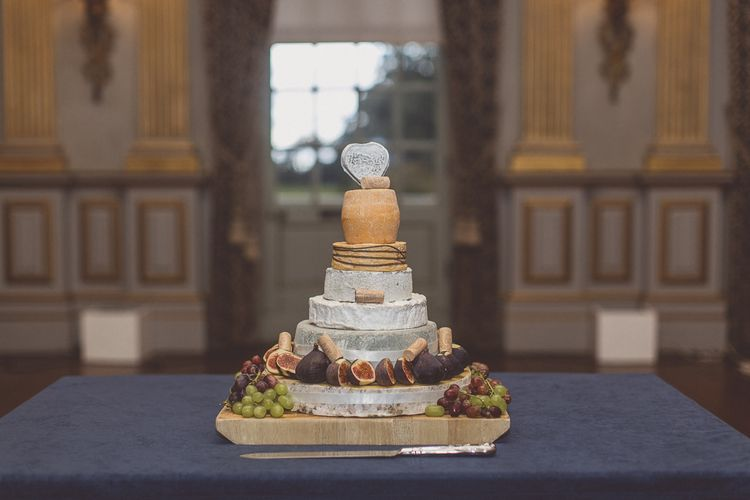Cheese Tower Wedding Cake | Classic Wedding at Knowsley Hall Country House in Merseyside | Photography & Film by WE ARE // THE CLARKES
