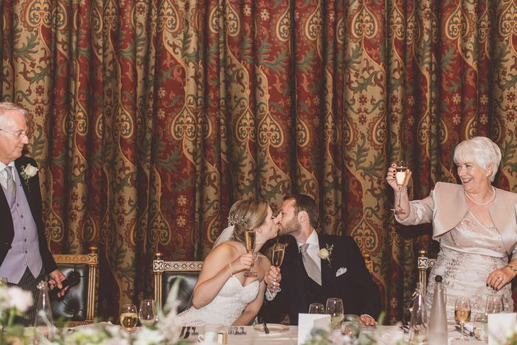 Speeches | Bride in a Diane Legrand Princess Gown | Groom in Navy Whitcomb and Shaftsbury Suit | Classic Wedding at Knowsley Hall Country House in Merseyside | Photography & Film by WE ARE // THE CLARKES