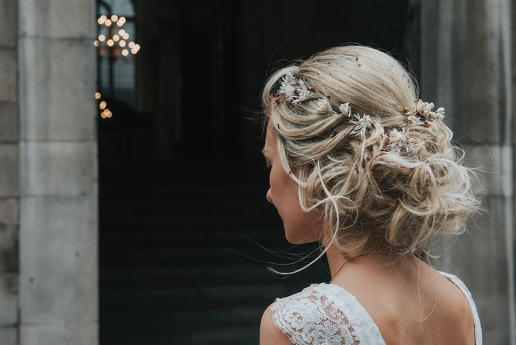 Loose Pinned Bridal Up Do