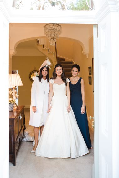 Classic Bride in Caroline Castigliano Wedding Dress   Lucy Davenport Photography