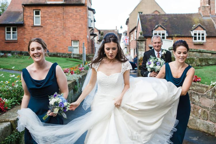 Bridal Party   Classic Bride in Caroline Castigliano Wedding Dress   Lucy Davenport Photography