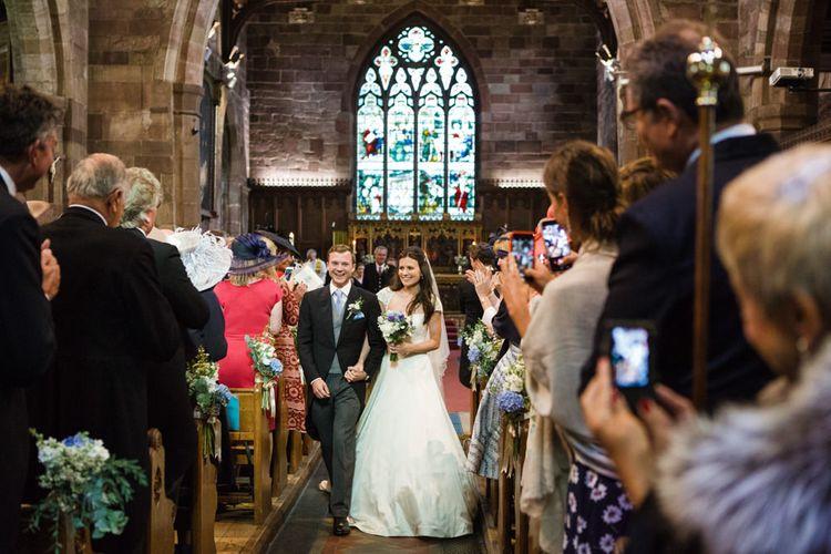 Church Wedding Ceremony   Classic Bride in Caroline Castigliano Wedding Dress   Groom in Cad & the Dandy Tails   Lucy Davenport Photography