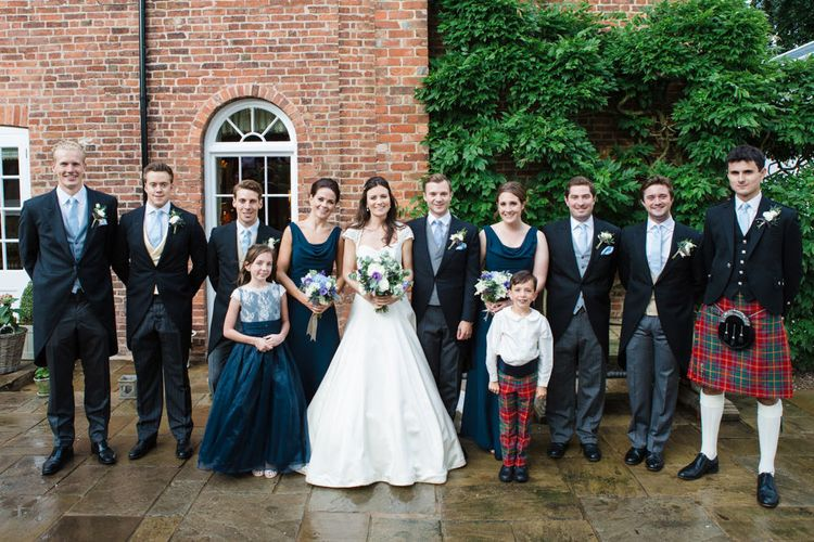 Wedding Party   Classic Bride in Caroline Castigliano Wedding Dress   Groom in Cad & the Dandy Tails   Lucy Davenport Photography