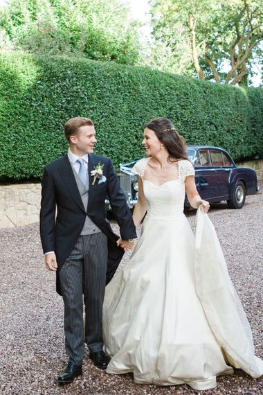 Classic Bride in Caroline Castigliano Wedding Dress   Groom in Cad & the Dandy Tails   Lucy Davenport Photography