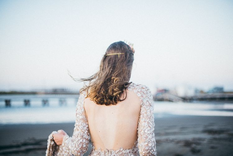 Sunset at the Beach Inspiration Shoot | Dresses by Santos Costura