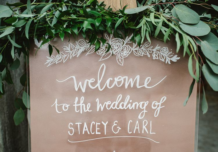 Perspex Welcome Sign For Wedding