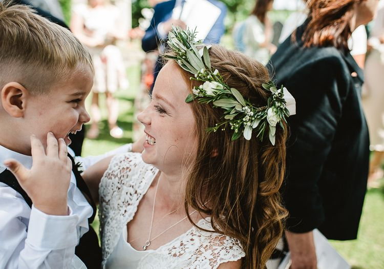 Foliage Crown For Flower Girl