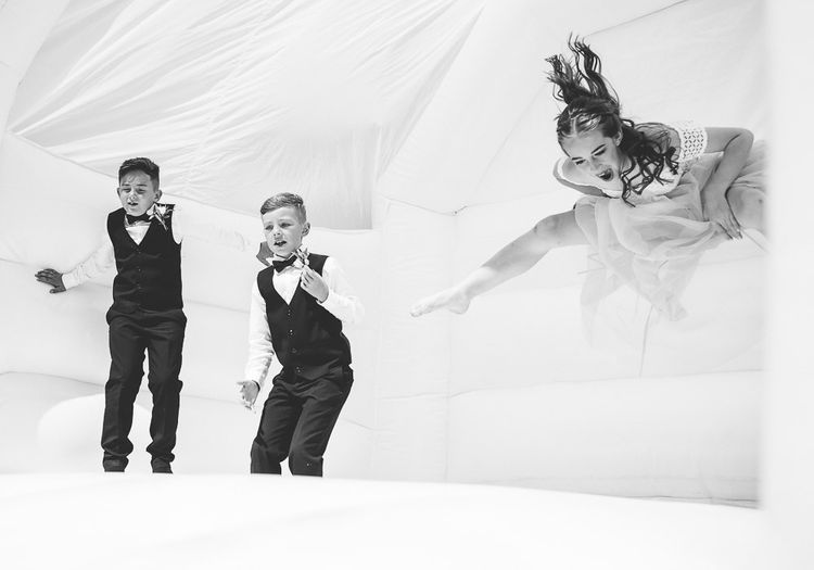 Bouncy Castle At Wedding For Kids