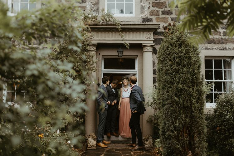 Botanical Greenhouse Wedding At The Secret Herb Garden Edinburgh With Wooden Trestle Table Reception And Images From The Hendrys Photography