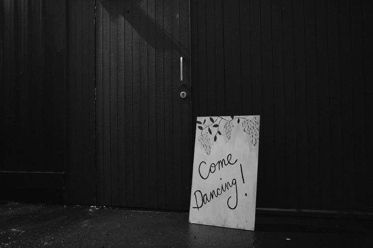 Come Dancing Sign For Wedding