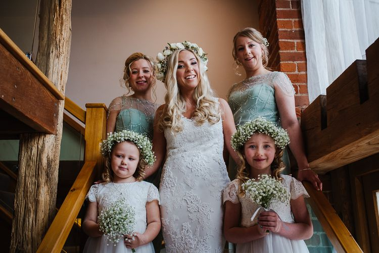 Wedding Party Bridesmaids In Mint Green