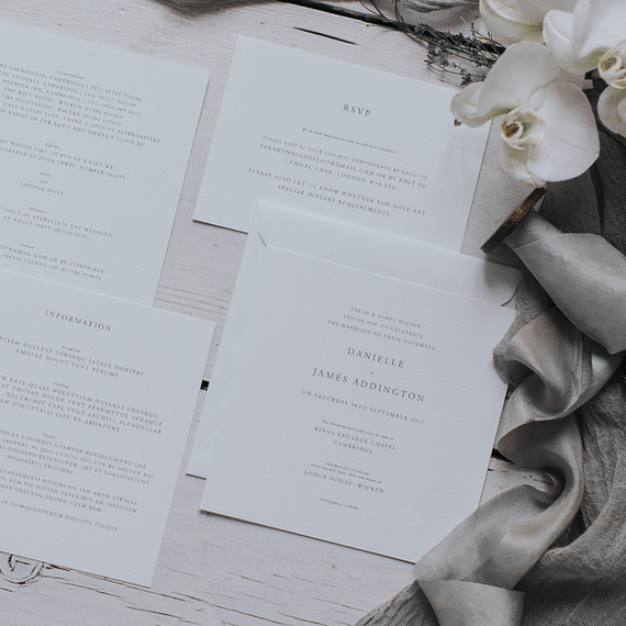 "Timeless Wedding Stationery | Summer Styling Redefined | Stationery by <a href=""https://www.lilacandwhite.com"" rel=""noopener"" target=""_blank"">Lilac & White</a>"