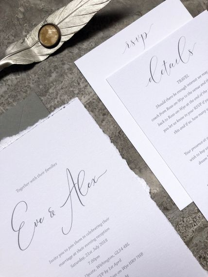 "Elegant Wedding Stationery | Summer Styling Reimagined | Stationery by <a href=""https://www.retropress.org"" rel=""noopener"" target=""_blank"">Retro Press</a>"