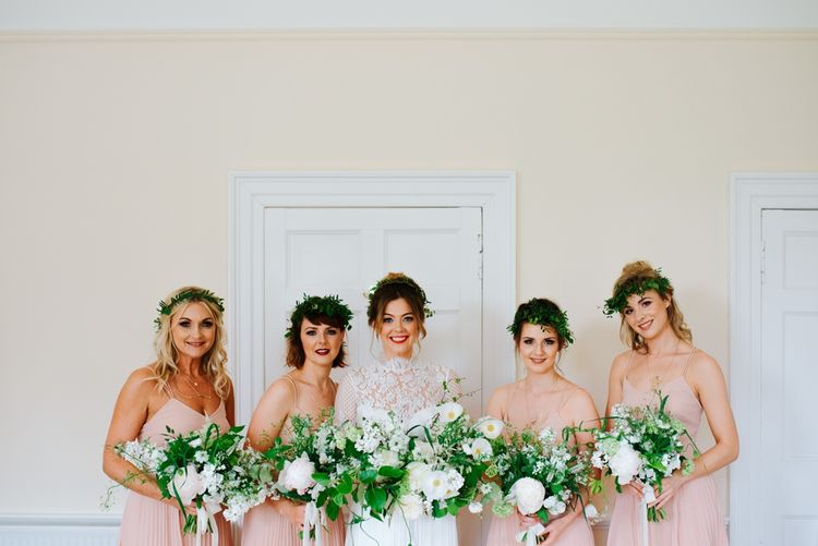 Bridesmaids In Blush Dresses From ASOS