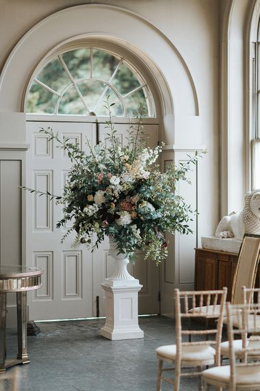 Stunning Floral Arrangement For A Wedding At Aynhoe Park Cotswolds