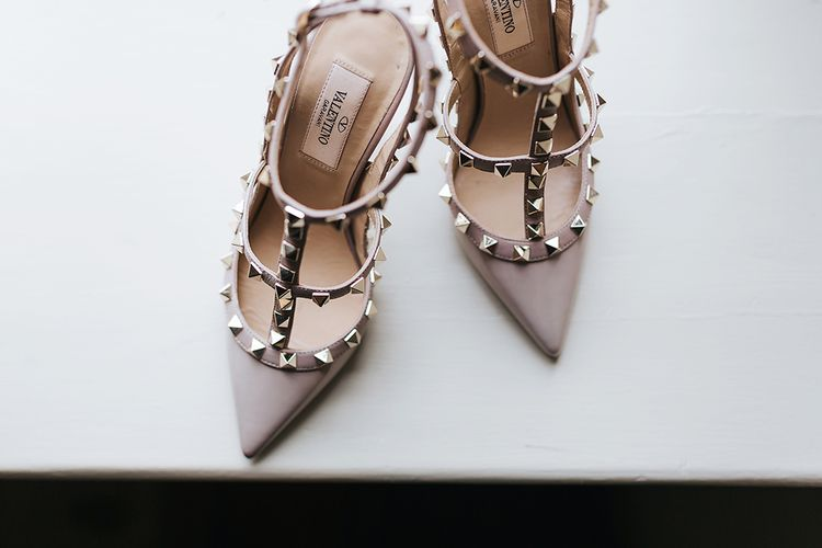Valentino Rockstud Wedding Shoes