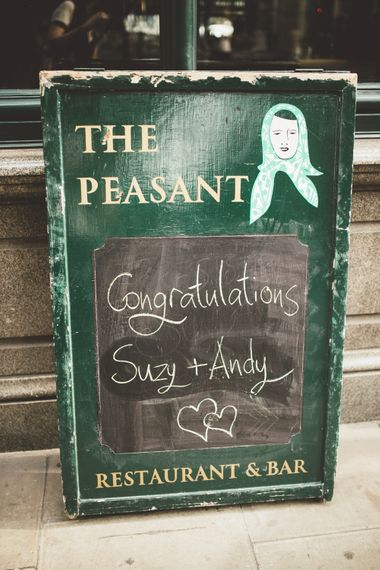 Wedding With A Pub Reception At The Peasant